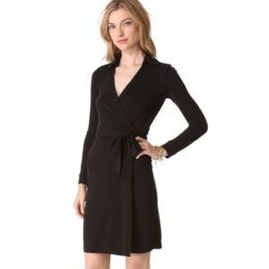 Diane Von Furstenberg Black Jeanne Wrap Dress